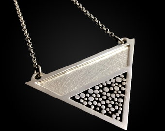 Geometric Granulation Necklace in Sterling Silver