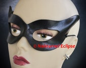 1950s Catwoman Black Leather Mask Halloween Comic Con Adult Superhero Harley Quinn Batgirl Batman Costume Cosplay AVAILABLE In ANY COLOR