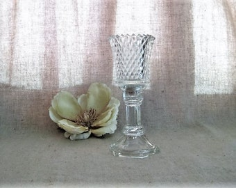 Glass Candle Holder with Retro Glass Votive / Retro Candlestick Holder