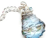 Custom Map Necklace / Map Pendant / Pick Your Location / State Jewelry / Vintage Map / Map Jewelry / World Travel Necklace / Earth Day