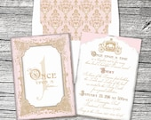 Once Upon a Time Princess Invitation and Thank You Cards (sold separately)