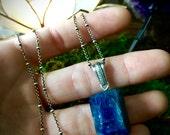 Spirit-  Large Blue Apatite Crystal Amulet