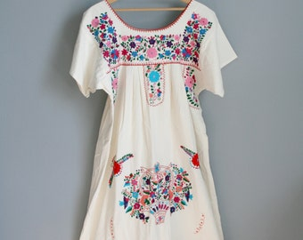 Oaxacan Embroidered Mexican Dress