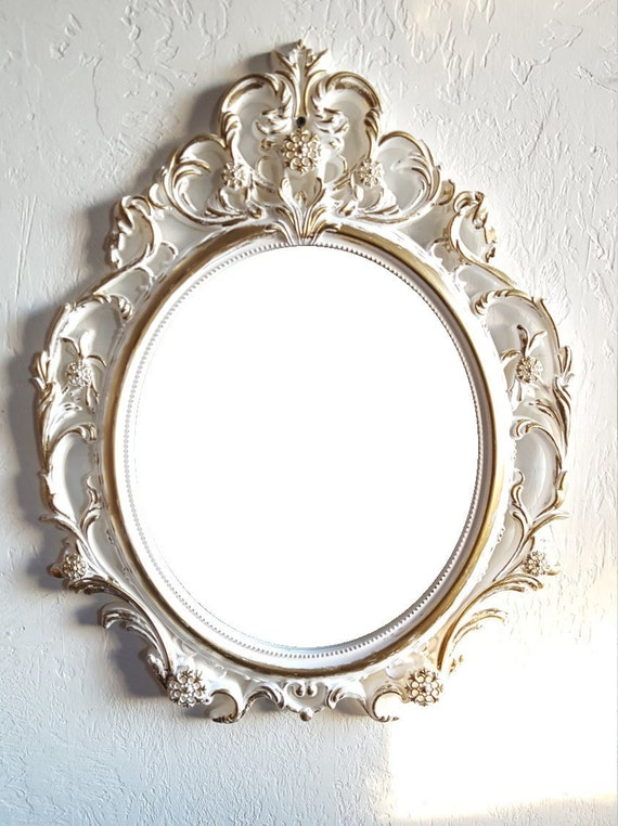 Sale large white gold wall mirror ornate mirrors baroque for Large white mirrors for sale