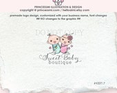 1227-7 baby logo,  two newborns logo, baby boy baby girl logo, baby logo, newborn photography, newborn business, watermark
