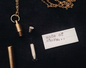 Brass Time Capsule Necklace