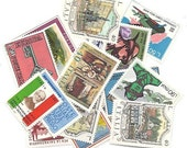 16 ITALY Stamps collection - Cute vintage Italian assorted STAMP set
