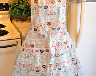 Women's Full Apron in Country French