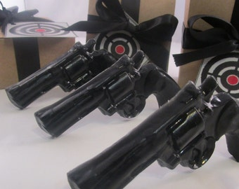 3 Gun Soap  - stocking for man, gifts for him, valentines for boyfriend