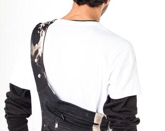 Acid-Wash Denim Messemger Bag/Utility Fanny Pack/Urban Bike Bag