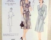 Vogue V2876 2876 reproduction 1940s dress pattern 1943 Bust 34 36 38 Uncut ruched