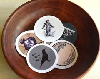 Victorian Sticker Template, Steampunk Stickers, Goth Stickers, Crow Stickers