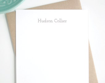 Personalized Stationery Cards with Name / Unisex Stationary Set / Personalized Stationary Gift Set