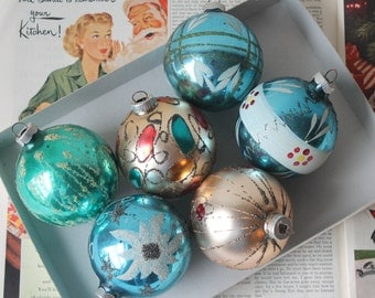 Vintage West Germany Christmas Ornaments Vintage West Germany Shiny Brite Christmas Ornaments Vintage Mica Christmas Ornaments