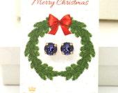 Christmas Gift For Her,Christmas Present,Swarovski Earrings Set,Purple Crystal Earrings,Ametyst Stud Earrings Purple Swarovski Stud Earrings