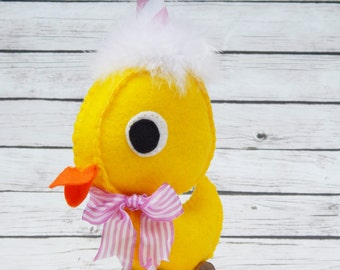 Party Ducky Felt Art Doll