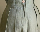 High Waisted Linen Pants / Vintage KENAR