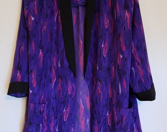 Vintage 1980s bright purple, mauve & hot pink Jacket