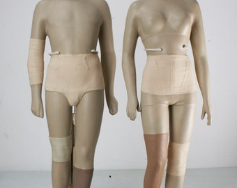 Vintage Countertop Display Mannequins -Athletic Support PRICE REDUCED