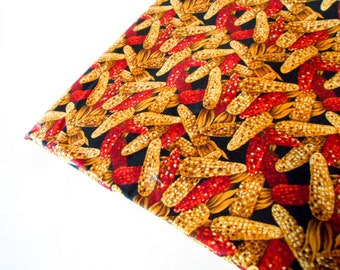 Fall Themed Fabric, Cotton Remnant, 1 yd Sewing Material, Quilting Supplies