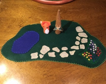 Woodland Playscape- Waldorf Inspired Forest Imagination Play Set