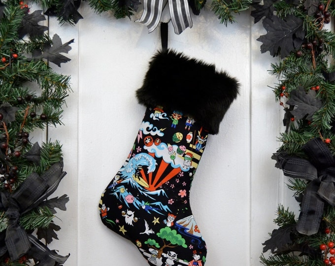 Ninja Surfer Kawaii Christmas Stocking