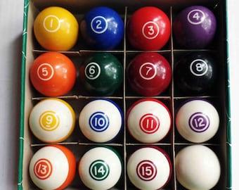 Callenelle billiard balls vintage Belguim pool ball set in box Aramith