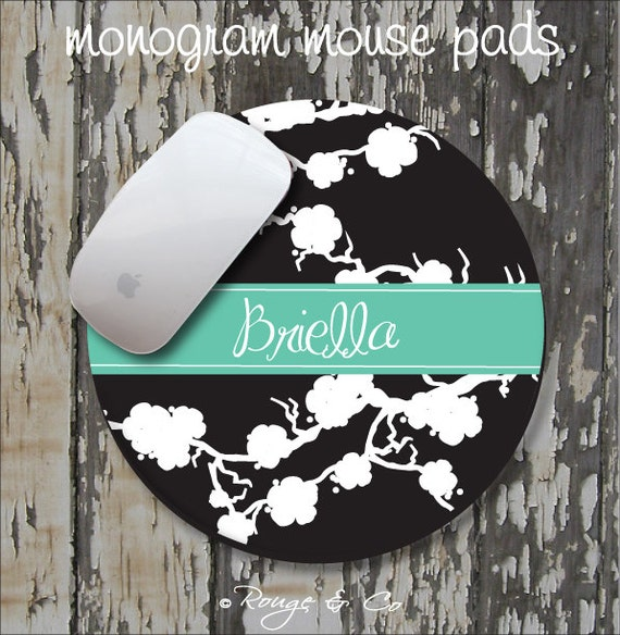 SAKURA Personalized Mouse Pad, Personalized Mousepad, Monogrammed Mouse Pad, Monogrammed Mousepad, Custom Mouse Pad, Custom Mousepad
