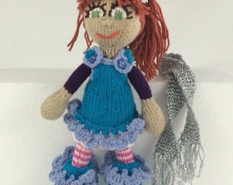 Jessica: red-headed knitted dolly