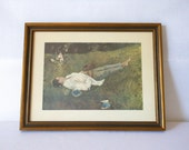 Vintage Andrew Wyeth The Berry Picker Art Print