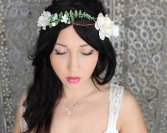 flower crown, wedding accessory, bridal headpiece, wedding flower crown, bohemian, wedding headband, bridal hair
