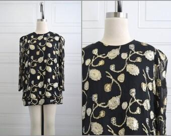 1970s Patra Metallic Mini Dress or Tunic