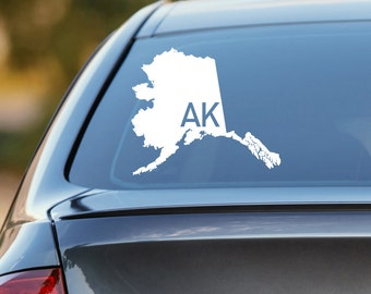 Alaska Car Decal, State Decal, Alaska Decal, Laptop Sticker, Laptop Decal, Car Sticker, Car Decal, Vinyl Decal, AK, Home, Sticker, Any State