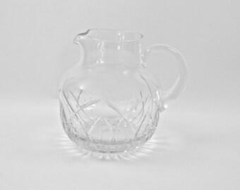 Block Crystal Pitcher / Water Pitcher / Lemonade Pitcher / Rainbow Pattern / Made in Poland / Wedding Gift / c1990s