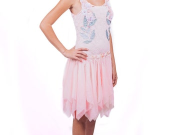 Retro Gatsby Dress, 1920s Dress, Great Gatsby Dress,Flapper Dress, Flapper Costume, Roaring 20s Dress,Downton Abbey Dress, Pink Lace Dress
