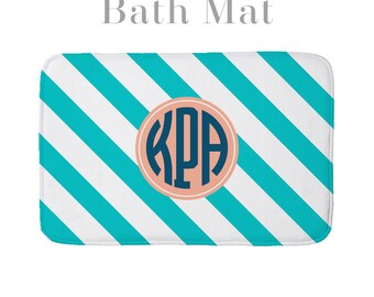 Bath Bathroom Floor Foam Mat Personalized Monogrammed Pattern Design Your Own