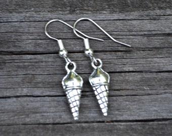 Small Ice Cream Cones . Earrings