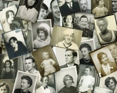 """50 pc - Vintage Photobooths """"Variety Collection"""" Snapshot Old Photo Antique Black & White Photography Paper Ephemera Collectibles - 112414"""