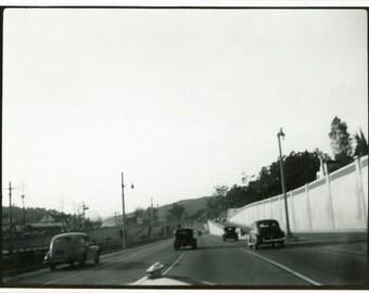 "Vintage Photo ""Santa Barbara Commute"" Snapshot Antique Photo Old Black & White Photograph Found Paper Ephemera Vernacular - 10"