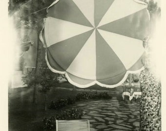 "Vintage Photo ""Umbrella Vortex"" Snapshot Photo Old Antique Photo Black & White Photograph Found Photo Paper Ephemera Vernacular - 126"