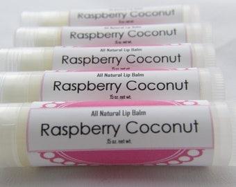 All Natural Lip Balm - Raspberry Coconut