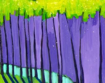 art landscape, original painting, Trees   10 x 10 x .75 Original Painting