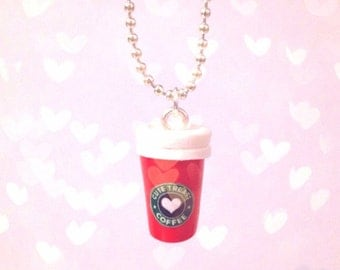 Starbucks Coffee Red Cup Necklace
