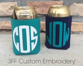 Personalized Monogrammed Drink Can holder