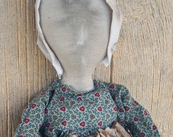 Prairie Doll with Stitched Apron