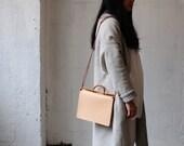 Artemis Leatherware Hand Stitched Box Leather Handbag/ Purse/ Shoulder Bag