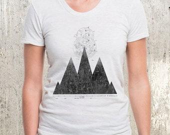 Mountain Range & Flight Chart - Women's American Apparel T-Shirt