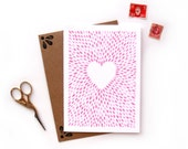 Pink Heart | Watercolor Illustrated Valentine's Day Card