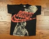 vintage 90s Jordan t-shirt Nike Air Jordan shirt vintage 1990 Chicago Bulls 100% cotton vintage tee Michael Jordan boys L adult S