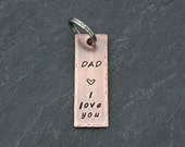 DAD GIFT WEDDING, Dad I Love You Keychain, Dad Birthday Gift, Dad to Be Gift, Dad Gift from Daughter, Thank you Dad, Rustic Dad Gift